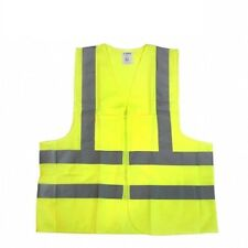 High visibility W/ Pockets Neon Green Safety Vest Reflective Strips ANSI XLarge