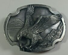 Vintage Pewter Belt Buckle Siskiyou Buckles American Bald Eagle