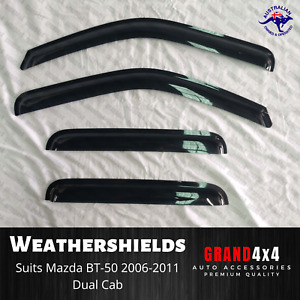 Premium Weathershields Window Visors for Mazda BT-50 BT50 2006-2011 Dual Cab