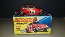 Matchbox Super fast Model no.15 VOLKSWAGEN,FROM 1968,NARROW WHEELS BOXED