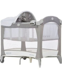 Graco Classic Electra Travel Cot Urban Gray Excellent Condition