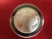 1 Ounce Texas Round .999 Fine  Silver  In Black Ring Airtite