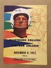 Wartburg (IA) Simpson (IA) COLLEGE FOOTBALL PROGRAM - 1957 - EX