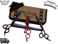 "6.5"" Black Professional Barber Salon Hair Cutting Japanese Scissors Thinner Kit"