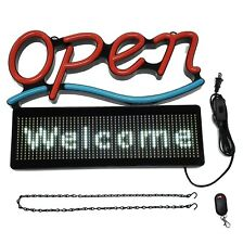 Open Business Sign 21 X 16 With Programmable Disp Scrolling Message 21x 16