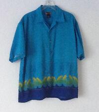Maluku Hawaiian Embroidered Shirt, Blue(s), Very Nice!
