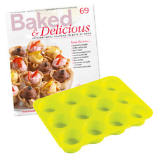 12 Mini Canape Tray Silicone Cake Chocolate Mould Mold Victoria Sponge Scones