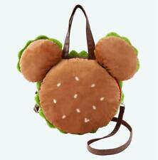 TDL Tokyo Disney Resort Disneyland Mickey Mouse Hamburger Plush Tote Hand Bag