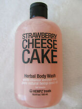Hempz Treats Strawberry Cheesecake Herbal Body Wash -Jumbo 18.6 fl oz / 550 ml