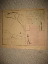 ANTIQUE 1874 LORDSTOWN LEAVITTSBURG ORANGEVILLE TRUMBULL COUNTY OHIO HANDCLR MAP