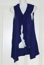 Womens size M/L sleeveless blue cardigan made by SUSSAN