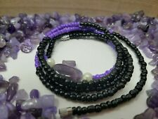 purple and Black Amethyst waist beads