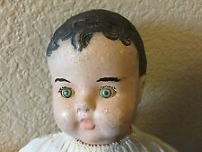 Cute Antique Composition Doll Sleep Eyes And Cry Box  Germany?
