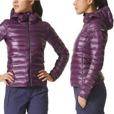 adidas Terrex Womens Light Down Hooded Jacket Lightweight Padded Puffer Coat