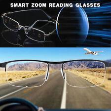 German Smart Zoom Reading Glasses Multifocal Reading Glasses Anti Blue Light NEW