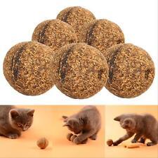 3Pcs Pet Toys Natural Catnip Healthy Funny Play Treats Toy Ball for Cats Kitten