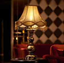 Vintage Antique Elegant European Style Resin Home Table Lamp Bedside Desk Light