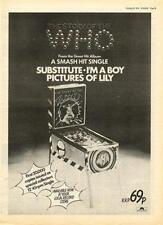 Who Substitute Pictures Of Lily UK '45 advert 1976