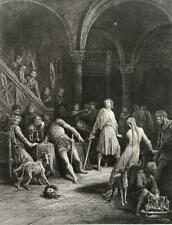 GUSTAVE DORE Large Antique Steel Engraving Fine Detail on QUALITY PAPER c.1860