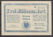 Cleve  -  Kreis  -   2 Millionen Mark
