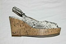 Marks and Spencer New Shoes Size 7 UK Wider Fit Snake Print Cork Wedges