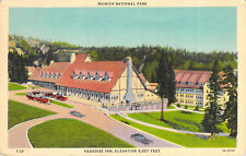 Postcard Paradise Inn Rainier National Park Tacoma Washington Teich Colortone