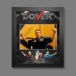 Phil Taylor Signed 12x16 Darts Photograph Framed In A Picture Mount Display : D