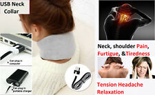 USB heated neck support collar for neck pain and headache