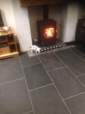 Brazilian Slate Tiles Flooring 80m2 600 x 400 10mm Thick Calibrated Nero Black