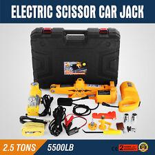2.5 Ton Automotive Electric Scissor Car Jack Lift 12V DC 100W Car Floor Jack