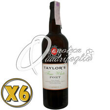 6 VINO PORTO TAYLOR'S FINE WHITE PORT WINE PRODUCT OF PORTUGAL