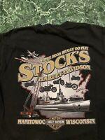 Vintage 2008 Harley Davidson T-Shirt Size M Hanes Beefy T Tag Rare Vtg Clean