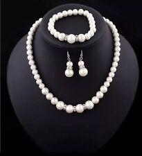 Bridesmaid Jewelry Set Wedding Jewellery Pearls Necklace Bracelet Earrings