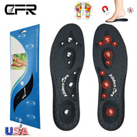 MAGNETIC Therapy INSOLES GEL Heel Pain Ache Relief Support Orthotic Flat Feet HG