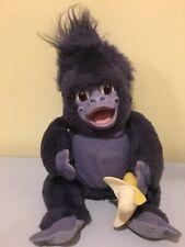 """Disney's Tarzan Talking Turk 16"""" Plush Doll Banana Baby Gorilla"""