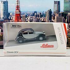 Schuco1/64 Citroen 2Cv Grey/Black 452021700