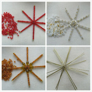 1-20 Big Wire Star / Snowflakes Beading / Bead Work For CHRISTMAS DECORATION