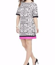 Eliza J Shift Dress In Damask Print Size 22W