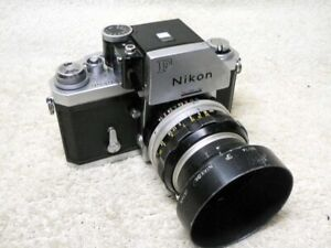 Vintage NIKON F Photomic 35mm SLR Film Camera w/ 50mm f/1.4 Lens,Hood. Good User