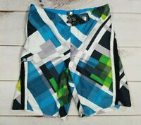 "ZeroXposur Boys Sz Large 14/16 W30/32"" Multicolor Board Shorts Swim Trunk Surf"
