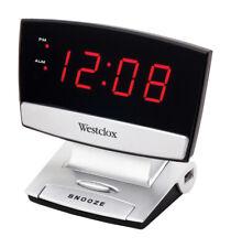 Westclox  Black  Alarm Clock  Digital  Plug-In