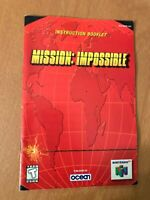 MISSION IMPOSSIBLE NINTENDO 64 N64 Original Instruction Manual Booklet Book
