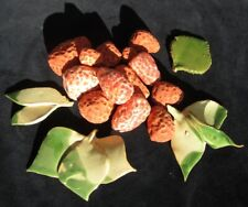 Fruits décoratifs fraises en faïence fruit décoratif céramique peint main