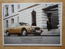 Daimler double six V12 & sovereign salons orig uk 1977 marketing sales brochure