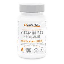 Vitamin B12 + Folsäure B9 B Komplex 180 Tabletten Methylcobalamin vegan PROFUEL®