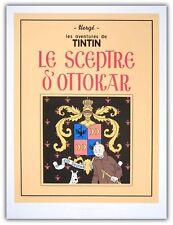 Affiche Serigraphie BD HERGE Tintin Le Sceptre d'Ottokar 60x80