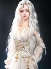 "9-10"" 1/3 BJD Hair SD doll wig Super Dollfie long Curly White AOD DOD DZ DK AF"