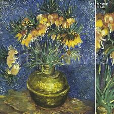 "20""x25"" CROWN IMPERIAL FRITILLARIES IN A COPPER VASE by VAN GOGH Repro CANVAS"