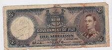 Fiji - Five (5) Shillings, 1940