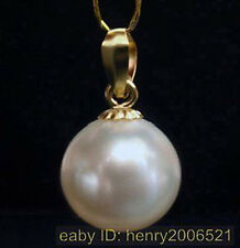 NOVEMBER SALE HUGE 14MM WHITE SHELL PEARL PENDANT